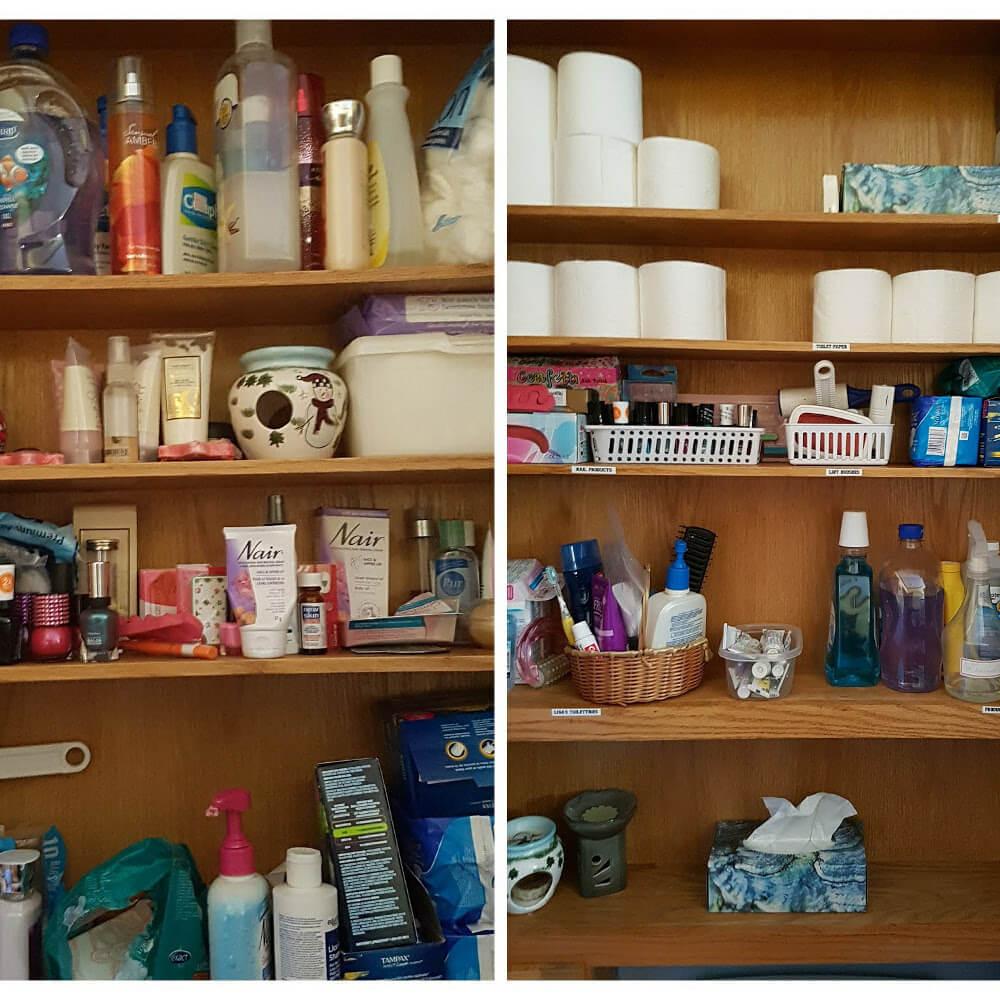 Bathroom Cupboard B & A