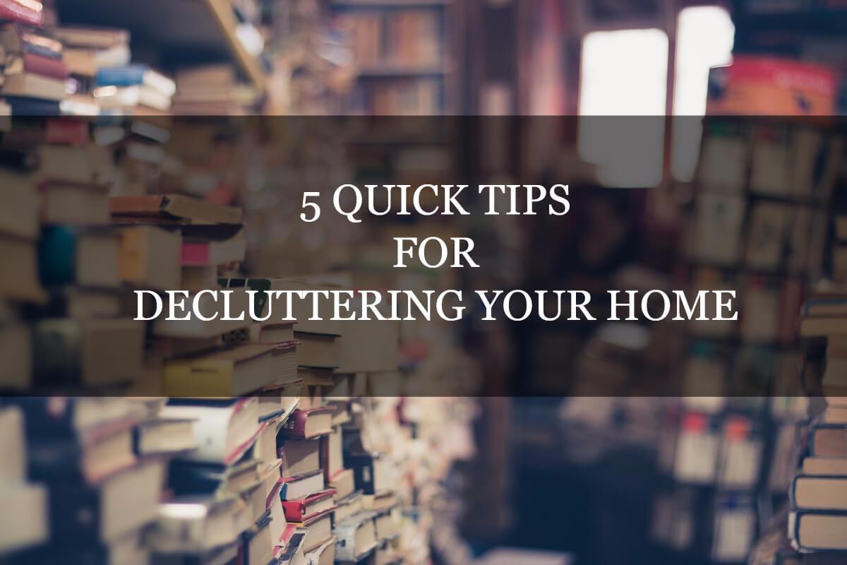 5 decluttering tips