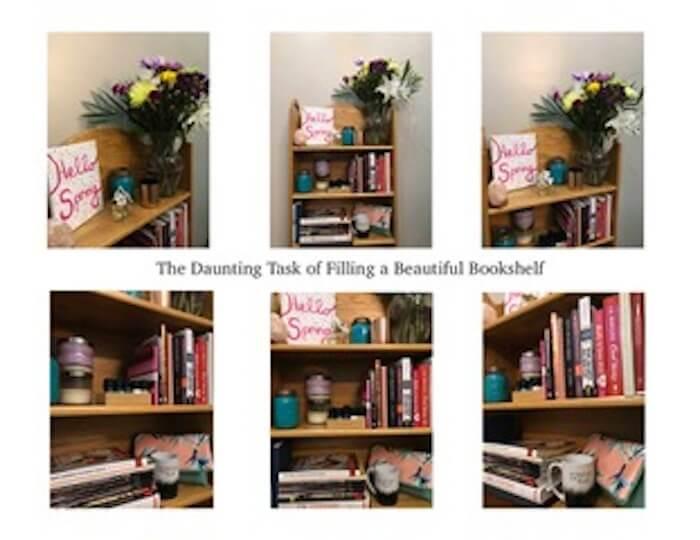 The Daunting Task Of Filling A Beautiful Bookshelf VISUAL